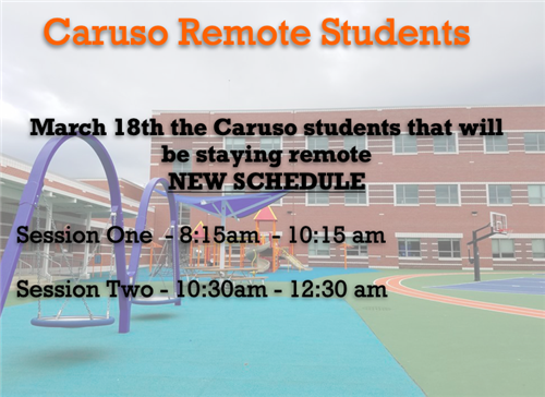 Caruso School's 2020-2021 Remote Schedule
