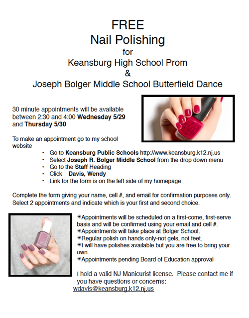 Free Nails for Prom or Butterfiled
